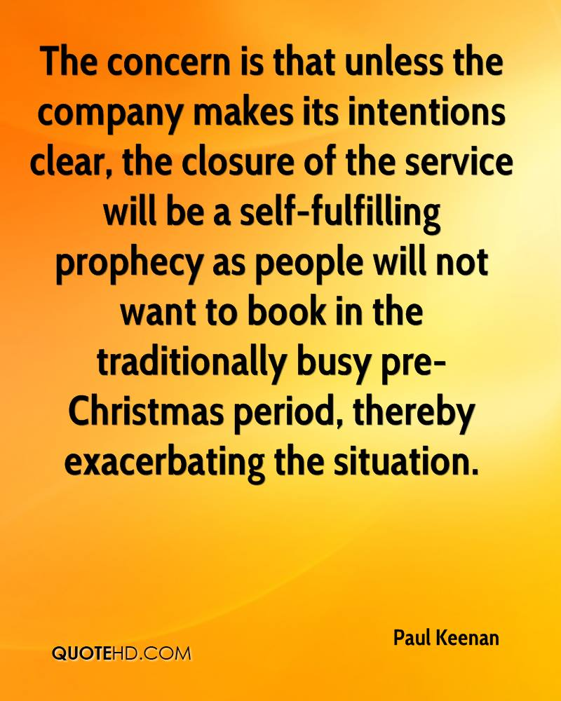 The concern is that unless the company makes its intentions clear, the closure of the service will be a self-fulfilling prophecy as people will not want to book in the traditionally busy pre-Christmas period, thereby exacerbating the situation.