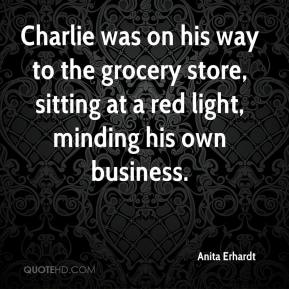 Charlie was on his way to the grocery store, sitting at a red light, minding his own business.