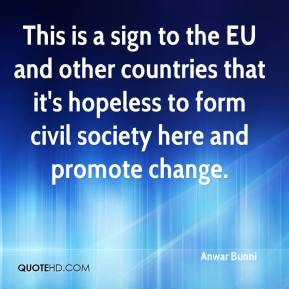 Anwar Bunni - This is a sign to the EU and other countries that it's hopeless to form civil society here and promote change.