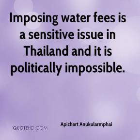 Apichart Anukularmphai - Imposing water fees is a sensitive issue in Thailand and it is politically impossible.