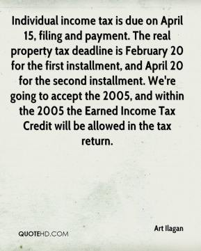 income tax installment payment form