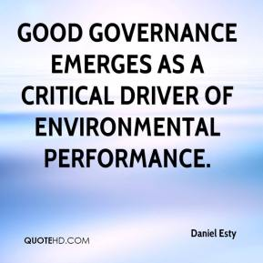 Good governance emerges as a critical driver of environmental performance.