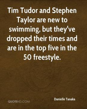 Tim Tudor and Stephen Taylor are new to swimming, but they've dropped their times and are in the top five in the 50 freestyle.