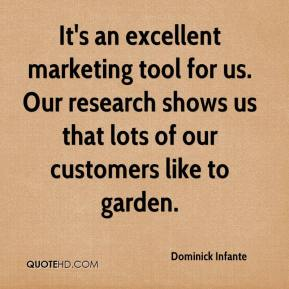 Dominick Infante - It's an excellent marketing tool for us. Our research shows us that lots of our customers like to garden.