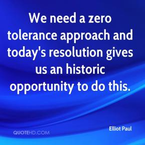 Elliot Paul - We need a zero tolerance approach and today's resolution gives us an historic opportunity to do this.