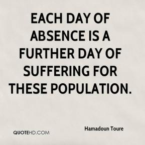 Hamadoun Toure - Each day of absence is a further day of suffering for these population.