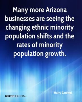Many more Arizona businesses are seeing the changing ethnic minority population shifts and the rates of minority population growth.