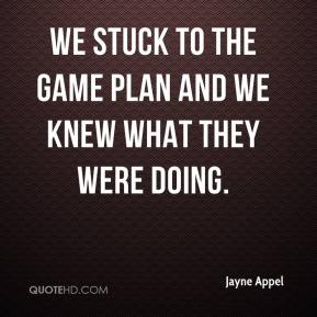 Jayne Appel  - We stuck to the game plan and we knew what they were doing.