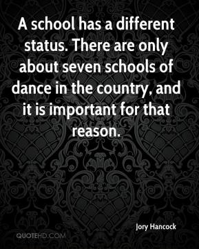 A school has a different status. There are only about seven schools of dance in the country, and it is important for that reason.