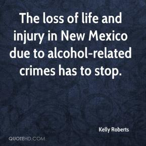 The loss of life and injury in New Mexico due to alcohol-related crimes has to stop.