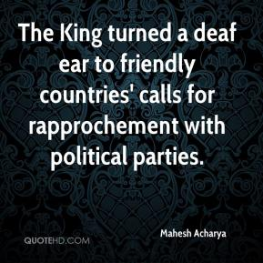 Mahesh Acharya  - The King turned a deaf ear to friendly countries' calls for rapprochement with political parties.