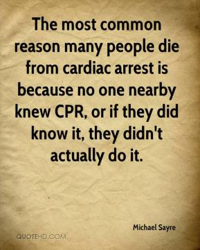 reflective essay on cardiac arrest Thesis: everybody should know how to give a cpr on cardiac arrest patient to increasing the rate of survival introduction: 1 importance of proper cpr and defibrillator.