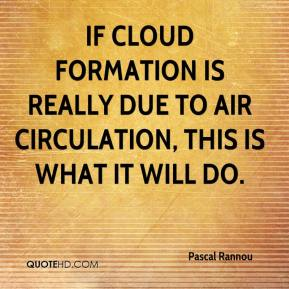 Pascal Rannou  - If cloud formation is really due to air circulation, this is what it will do.