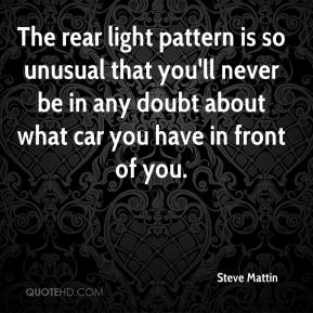 Steve Mattin  - The rear light pattern is so unusual that you'll never be in any doubt about what car you have in front of you.