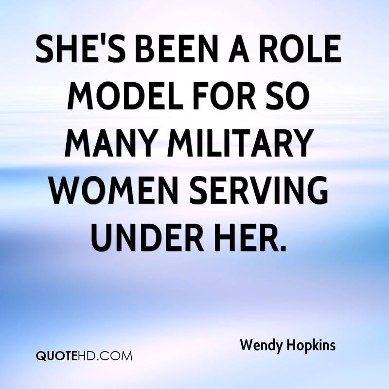 Quotes On The Role Of Women: Wendy Hopkins Quotes