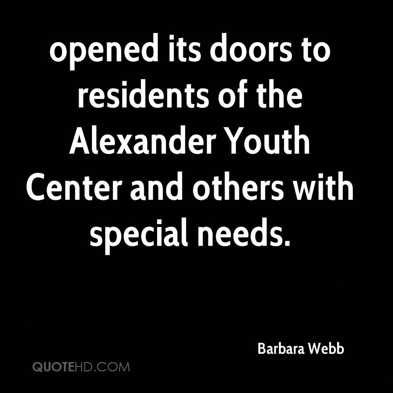 opened its doors to residents of the Alexander Youth Center and others with special needs.