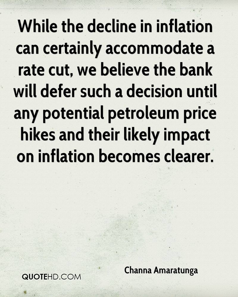 While the decline in inflation can certainly accommodate a rate cut, we believe the bank will defer such a decision until any potential petroleum price hikes and their likely impact on inflation becomes clearer.