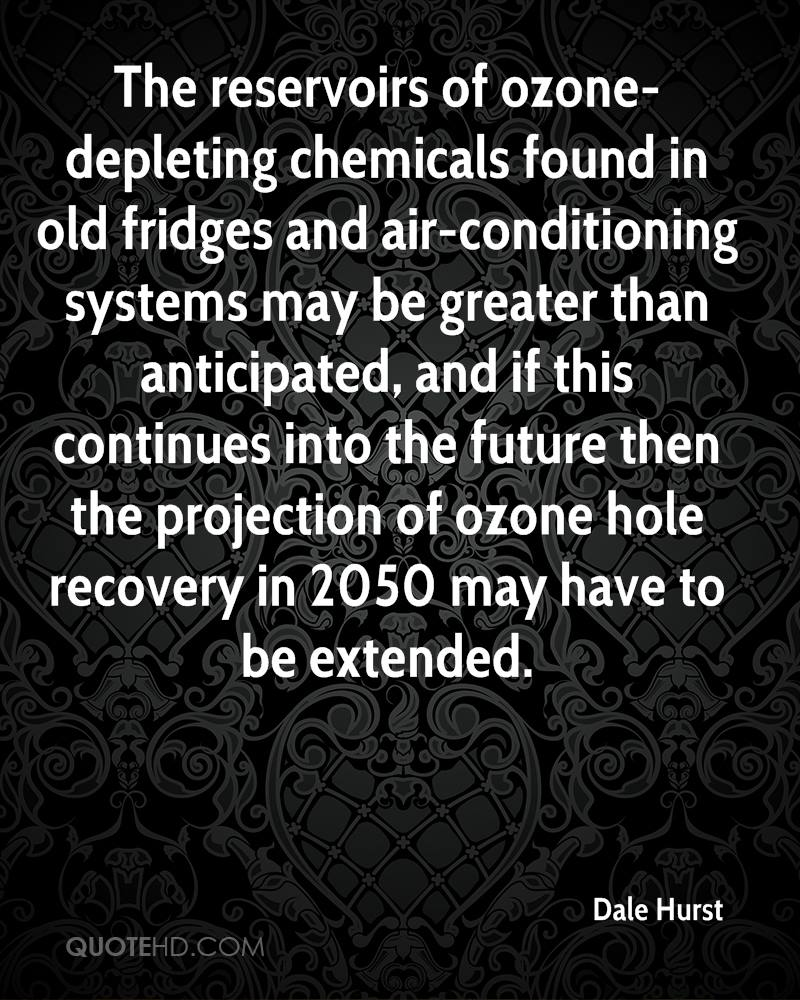 The reservoirs of ozone-depleting chemicals found in old fridges and air-conditioning systems may be greater than anticipated, and if this continues into the future then the projection of ozone hole recovery in 2050 may have to be extended.