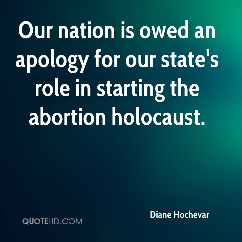 Our nation is owed an apology for our state's role in starting the abortion holocaust.