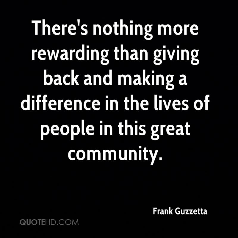 Importance Of Giving Back To Your Community
