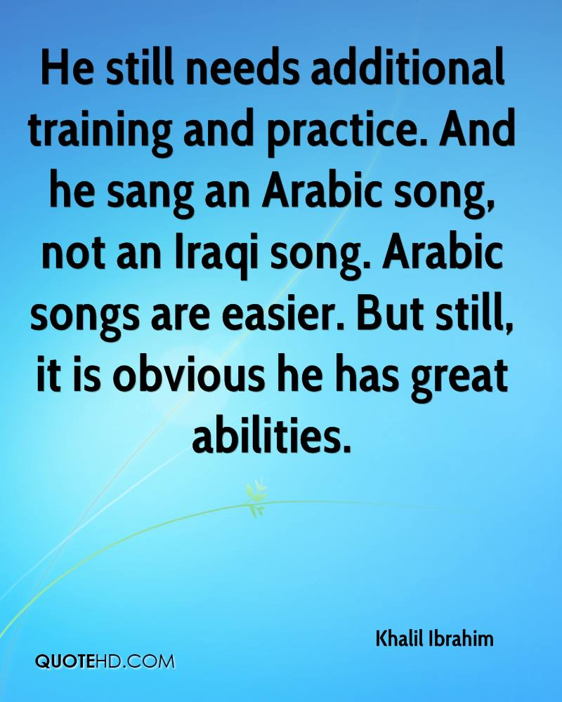He still needs additional training and practice. And he sang an Arabic song, not an Iraqi song. Arabic songs are easier. But still, it is obvious he has great abilities.