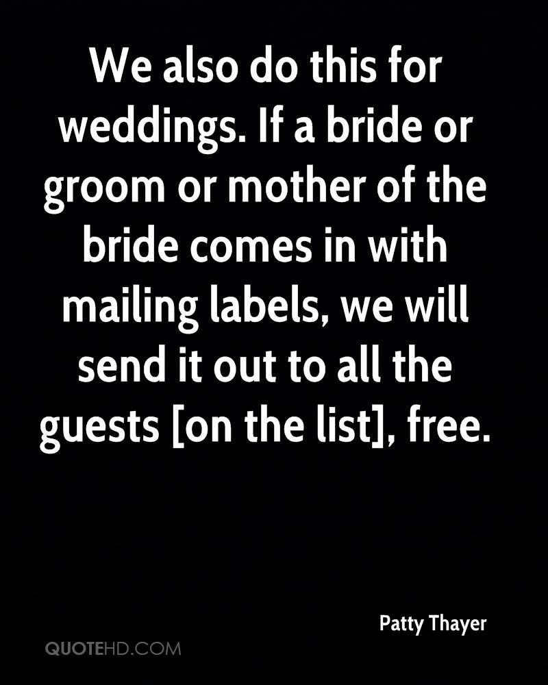 If A Bride Or Groom Mother Of The
