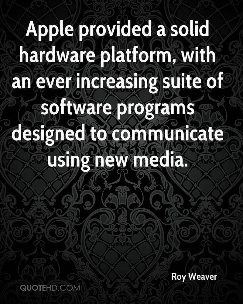 Apple provided a solid hardware platform, with an ever increasing suite of software programs designed to communicate using new media.