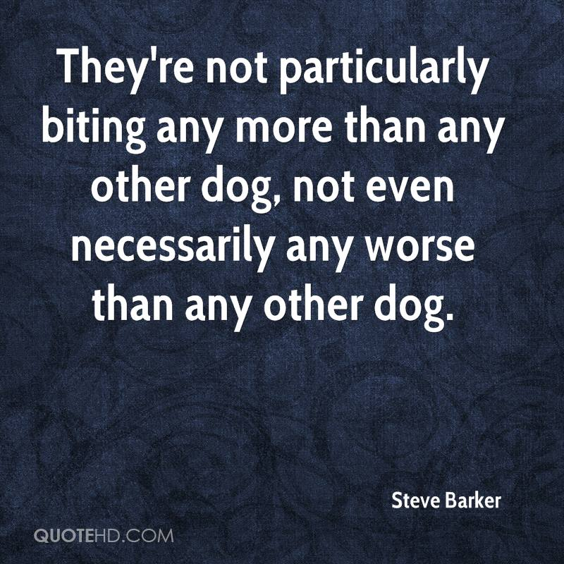 They're not particularly biting any more than any other dog, not even necessarily any worse than any other dog.