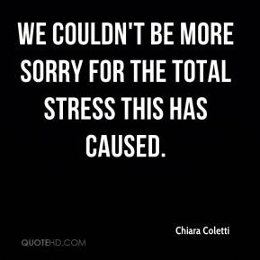 We couldn't be more sorry for the total stress this has caused.