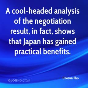 A cool-headed analysis of the negotiation result, in fact, shows that Japan has gained practical benefits.