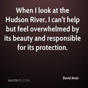 David Arner - When I look at the Hudson River, I can't help but feel overwhelmed by its beauty and responsible for its protection.