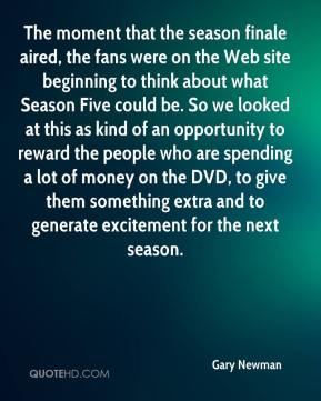 The moment that the season finale aired, the fans were on the Web site beginning to think about what Season Five could be. So we looked at this as kind of an opportunity to reward the people who are spending a lot of money on the DVD, to give them something extra and to generate excitement for the next season.