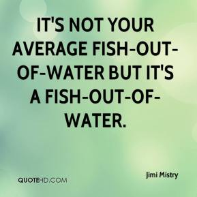 Jimi Mistry  - It's not your average fish-out-of-water but it's a fish-out-of-water.