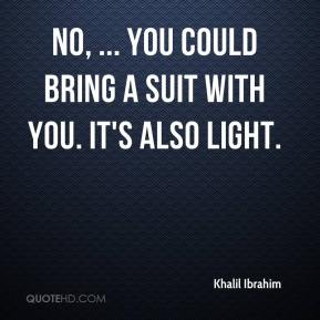 No, ... You could bring a suit with you. It's also light.