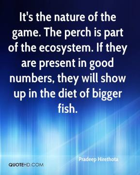 It's the nature of the game. The perch is part of the ecosystem. If they are present in good numbers, they will show up in the diet of bigger fish.