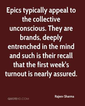 Epics typically appeal to the collective unconscious. They are brands, deeply entrenched in the mind and such is their recall that the first week's turnout is nearly assured.
