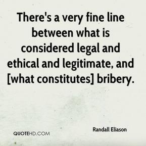 Randall Eliason  - There's a very fine line between what is considered legal and ethical and legitimate, and [what constitutes] bribery.