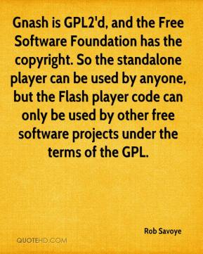 Rob Savoye  - Gnash is GPL2'd, and the Free Software Foundation has the copyright. So the standalone player can be used by anyone, but the Flash player code can only be used by other free software projects under the terms of the GPL.