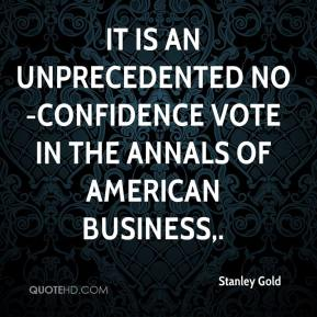 It is an unprecedented no-confidence vote in the annals of American business.