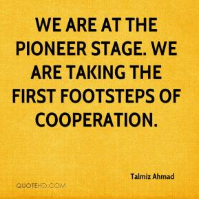 Talmiz Ahmad  - We are at the pioneer stage. We are taking the first footsteps of cooperation.
