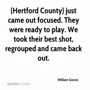 (Hertford County) just came out focused. They were ready to play. We took their best shot, regrouped and came back out.