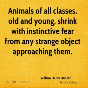 Animals of all classes, old and young, shrink with instinctive fear from any strange object approaching them.