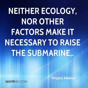Yevgeny Adamov  - Neither ecology, nor other factors make it necessary to raise the submarine.