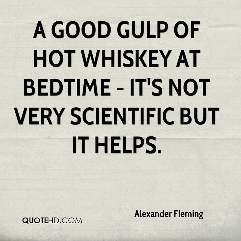A good gulp of hot whiskey at bedtime - it's not very scientific but it helps.
