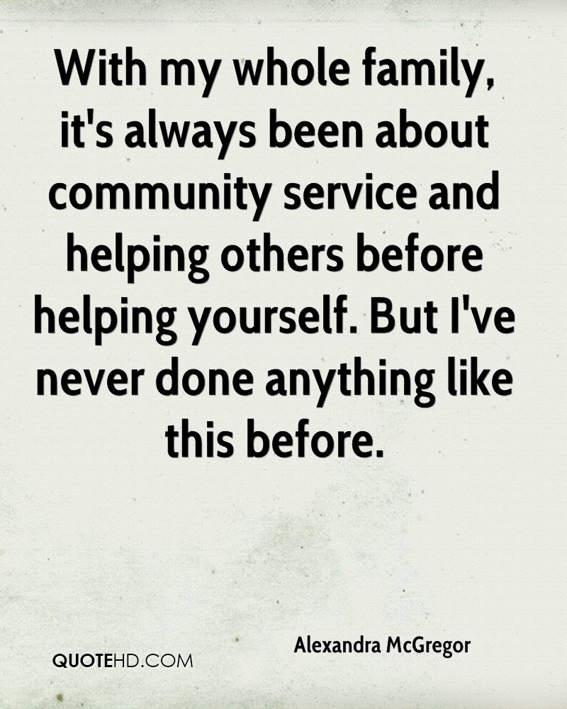Quotes About Community Service Alexandra Mcgregor Quotes  Quotehd