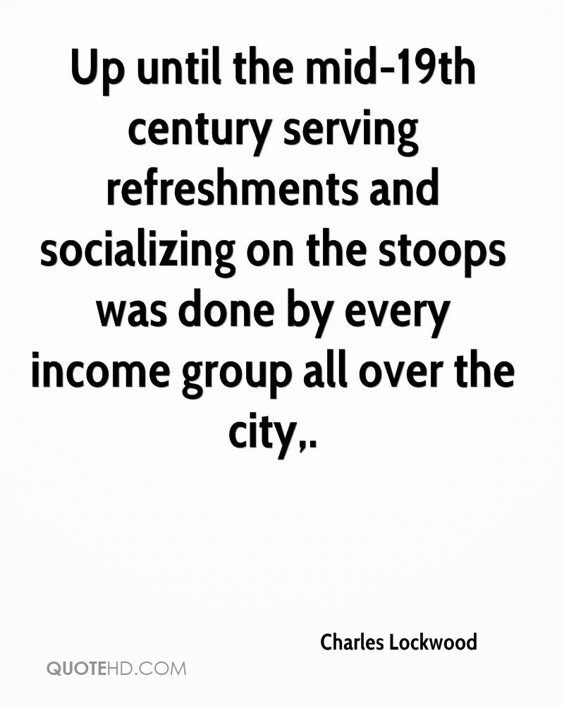 Up until the mid-19th century serving refreshments and socializing on the stoops was done by every income group all over the city.