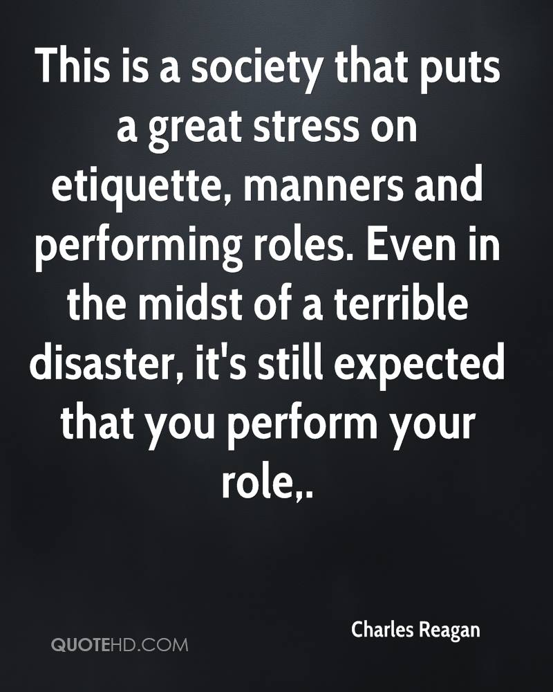 The role that stress play in our society