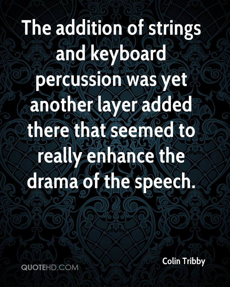 The addition of strings and keyboard percussion was yet another layer added there that seemed to really enhance the drama of the speech.