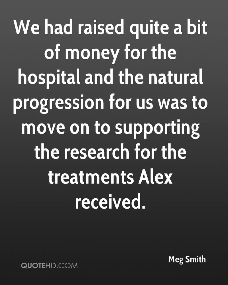 We had raised quite a bit of money for the hospital and the natural progression for us was to move on to supporting the research for the treatments Alex received.
