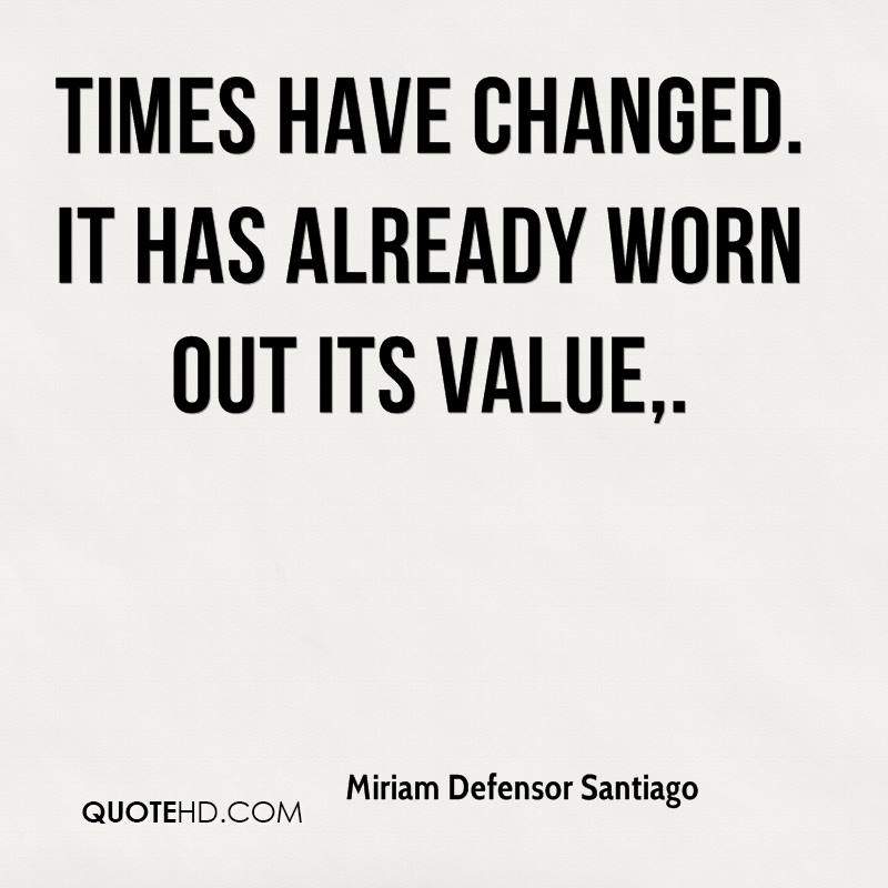 Times have changed. It has already worn out its value.